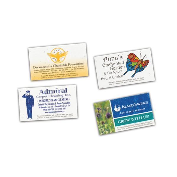 Direct print seeded paper business card concept plus direct print seeded paper business card reheart Image collections