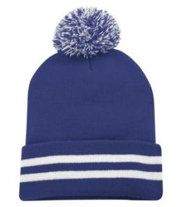 ATC TM STRIPED CUFF POM POM TOQUE