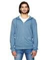 Alternative Men's Rocky Eco-Mock Twist Mock Neck Zip Hoodie